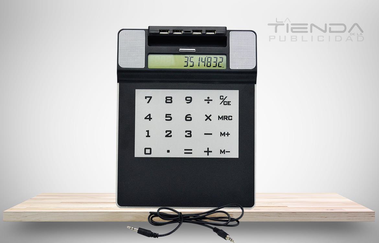 calculadora usb parlantes