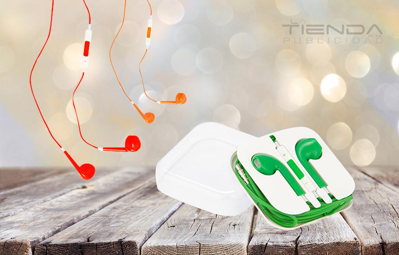 audífonos con estuche plástico