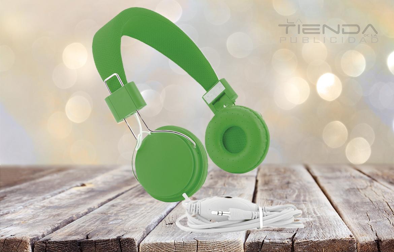audífonos verdes