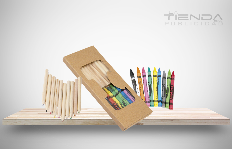 caja colores crayolas