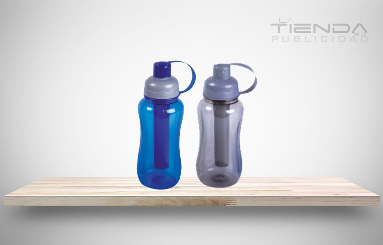 termos plásticos azul y gris