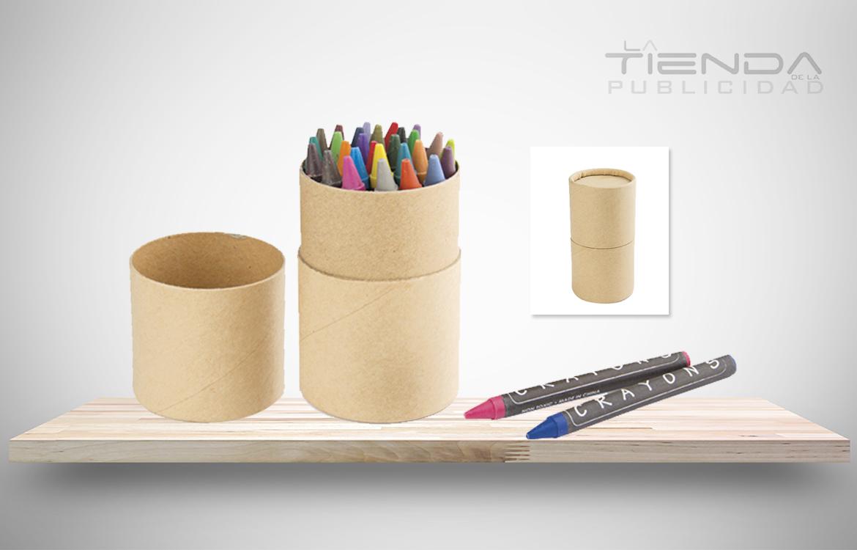 tubo crayones