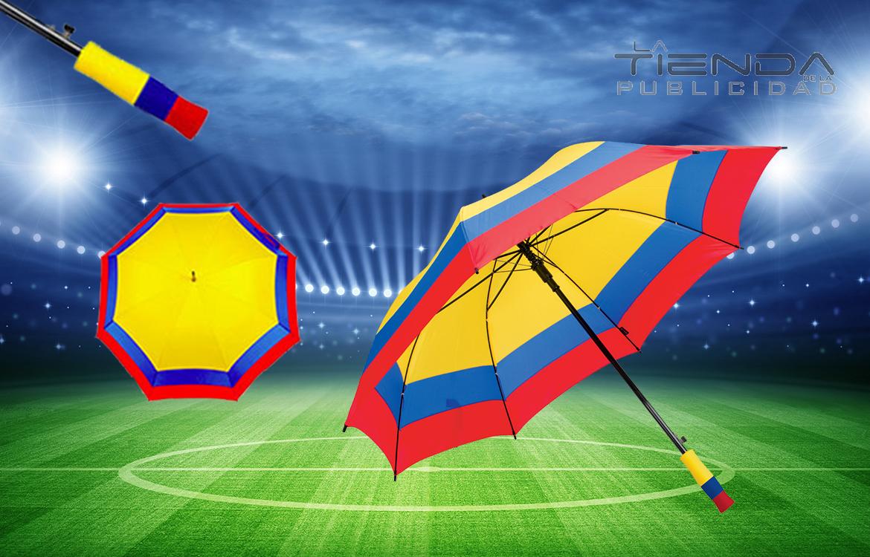 Paraguas tricolor