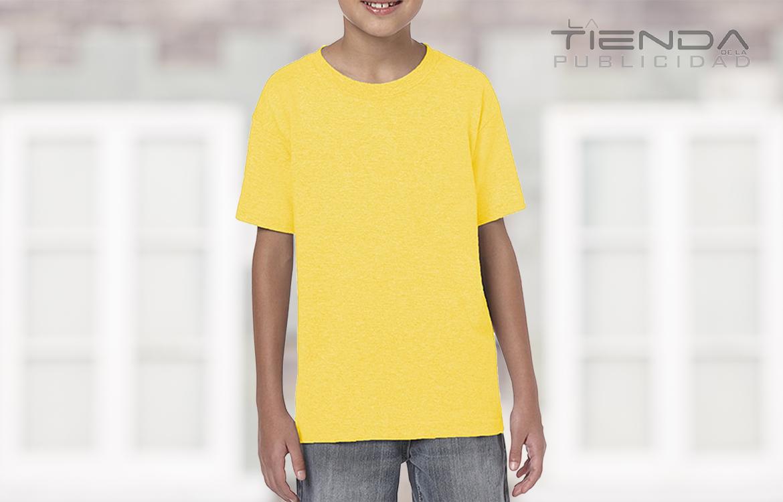 Camiseta juvenil – infantil cuello redondo amarillo