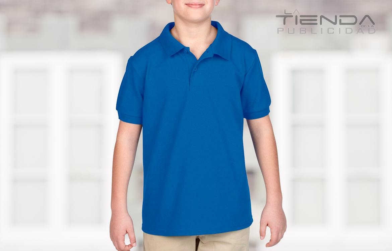 Camiseta tipo polo azul